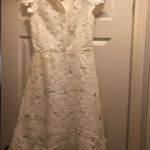 White flower out dress